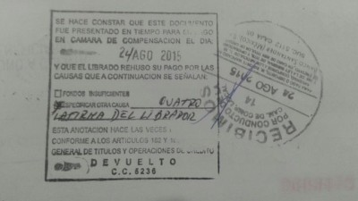 "El cheque ""maldito"" de Indemaya"