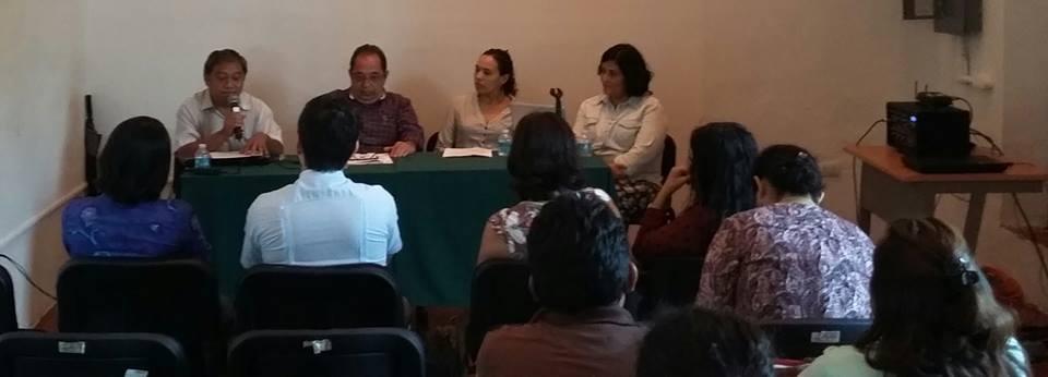 Los escritores y poetas Feliciano Sánchez Chan y José Díaz Cervera