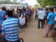 Ejidatarios de Xoy presionan sobre pagos de tierra invadida por vía