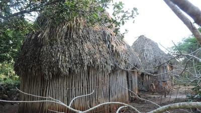 Niños mayas del sur abandonados al frío