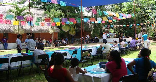 La escuela agroecológica de Maní. Un evento en 2008 (Archivo elchilambalam)