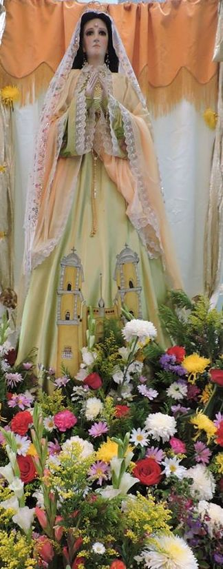 Imagen de la Virgen de la Estrella de Peto. (Foto Bernardo Caamal)