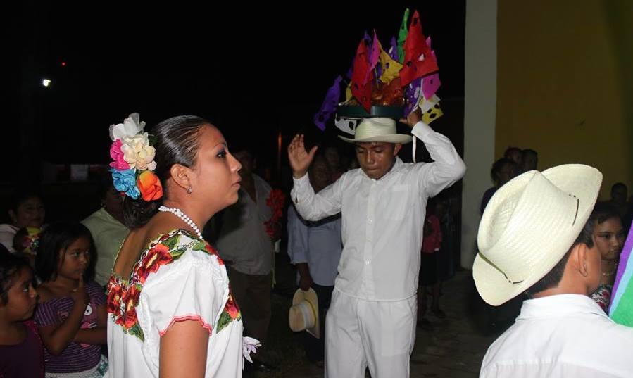 Baile de la cabeza de cochino en Sitilpech