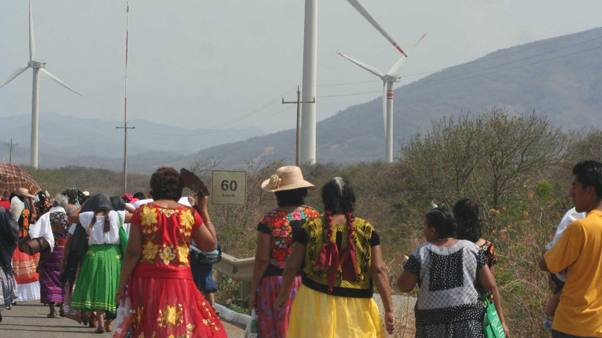 Aerogeneradores en tierras de Oaxaca. Imagen de Google