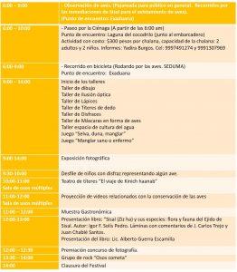 Programa sábado 19 de marzo en Sisal