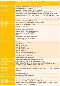 Programa viernes 18 de marzo en Sisal