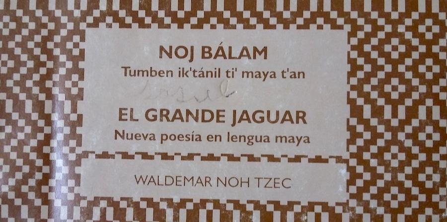 Portada de un poemario del campechano Waldemar Noh Tzec