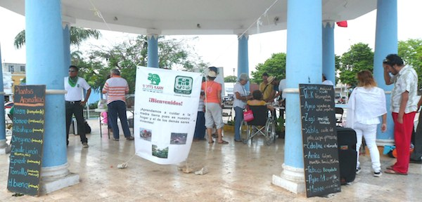 Feria de saberes mayas en Hunucmá organizada por U yiits Ka'an