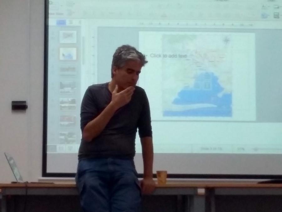 Sergio Oceransky este jueves en la tarde en el auditorio del Ciesas-Mérida