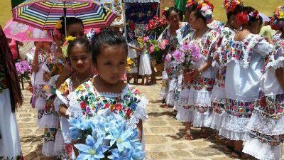 Agricultores mayas celebran a San Antonio de Padua en Oxkutzcab