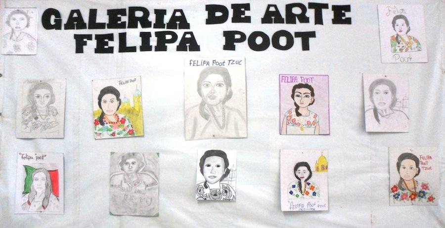 Homenaje de jóvenes a Felipa Poot