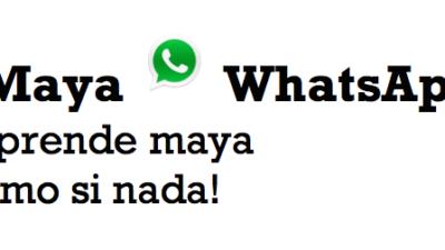 Comienza a aprender maya yucateco por medio de MayaWhatsApp