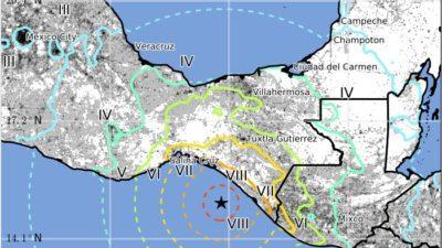 Desastre extenso por el temblor. Mérida, con bajo peligro