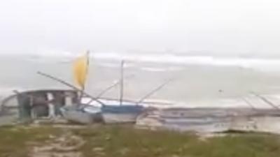 """""""Por viento demasiado fuerte no puedo entrar a cargar"""" al puerto de altura de Progreso"""